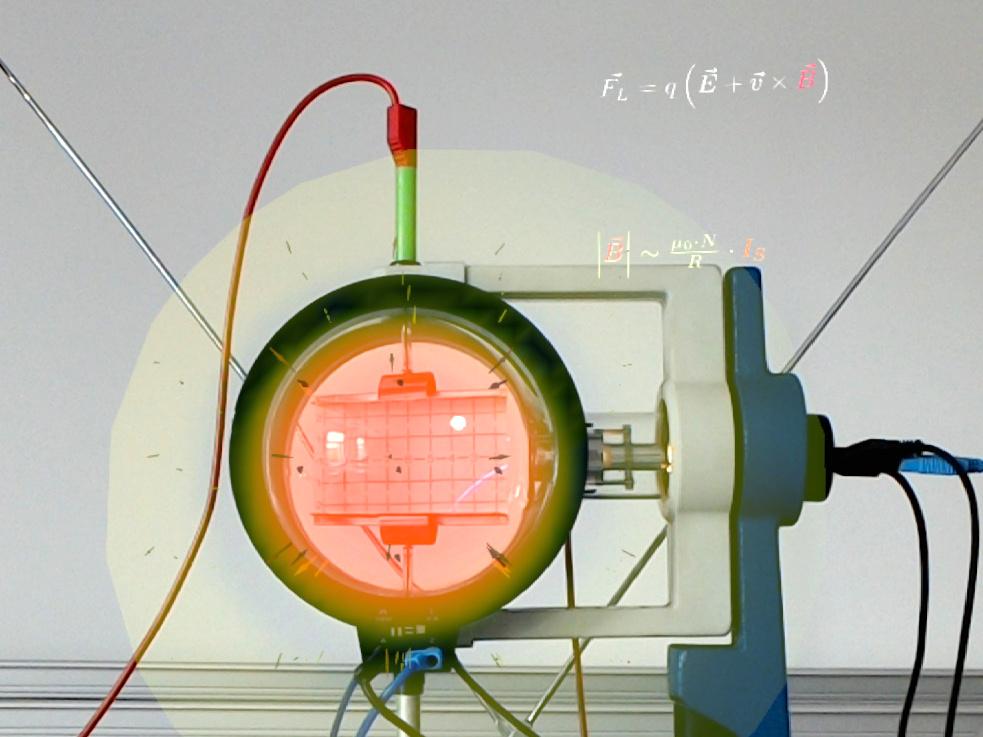 Augmented-Reality-Experimente: Ladungen in magnetischen und elektrischen Feldern