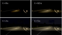 Realistic Simulation of Human Contrast Perception after Exposure to Frontal Headlight Glare in Driving Simulations