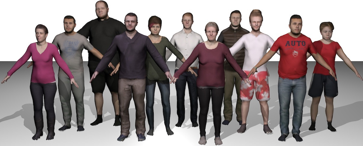 Video Based Reconstruction of 3D People Models