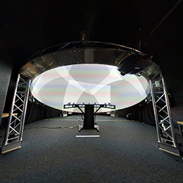 Gaze and Motion-aware Real-Time Dome Projection System