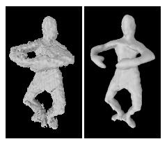 Weighted Minimal Hypersurface Reconstruction