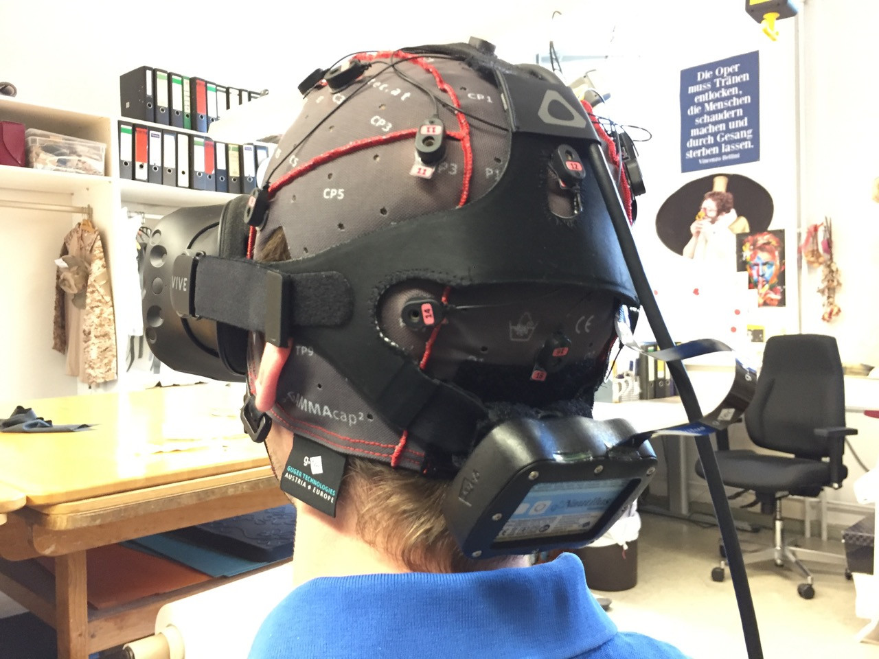 Immersive EEG: Evaluating Electroencephalography in Virtual Reality