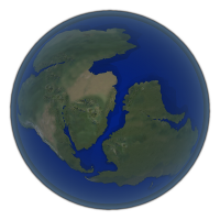Visualization of the continental drift in real-time