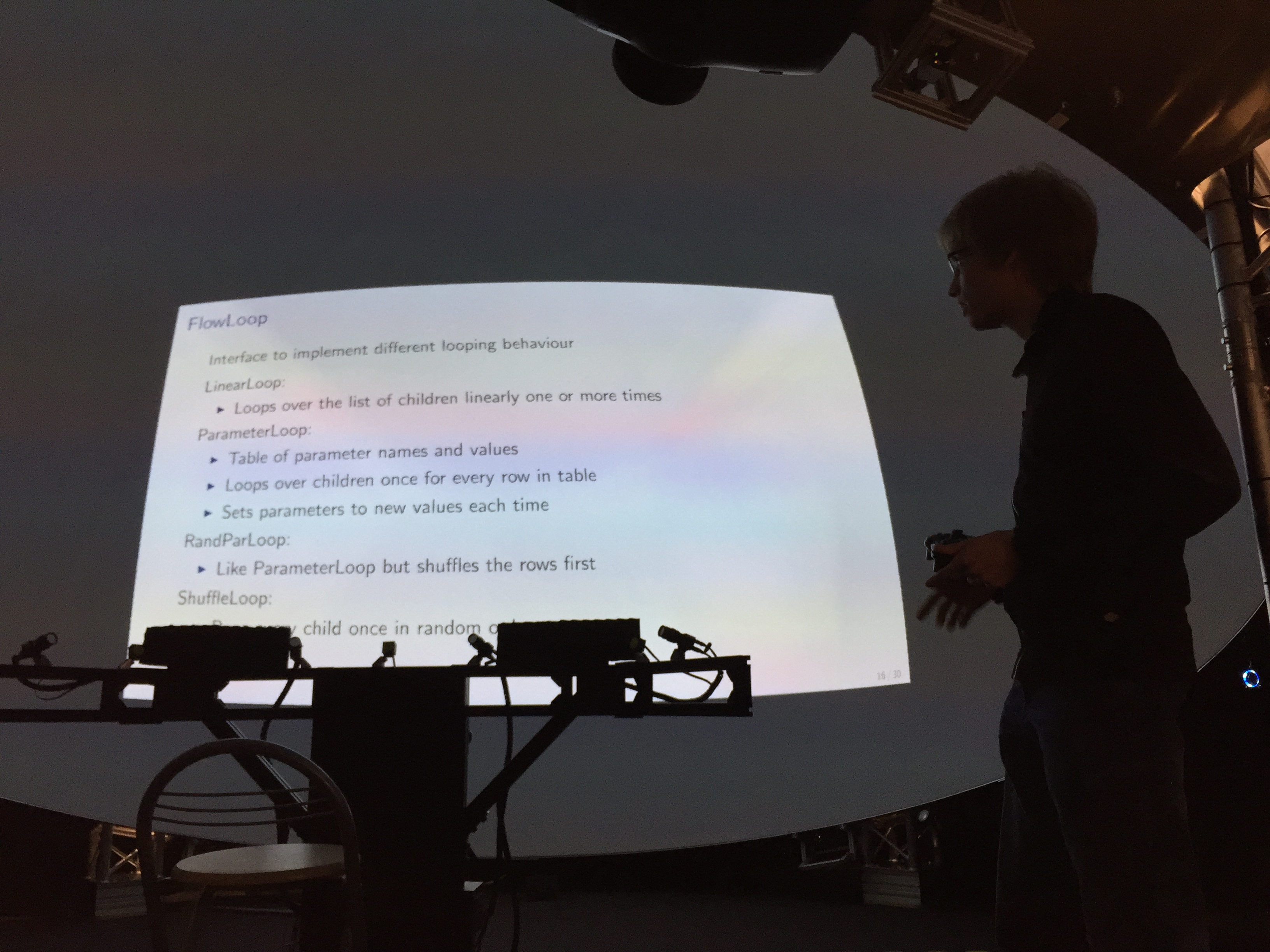 Bsc Talk: A framework for psychophysical experiment design in immersive full-dome environments